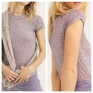 NEW Free People Night Sky Burnout Tee Medium